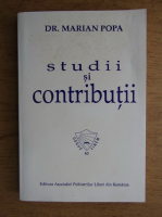 Marian Popa - Studii si contributii