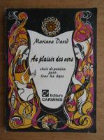 Anticariat: Mariana David - Au plaisir des vers choix de poesies pour tous les ages