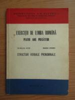 Anticariat: Mariana Guiu - Exercitii de limba romana pentru anul pregatitor. Structuri verbale pronominale