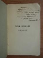 Anticariat: Mariana Istrate - Victor Cherbuliez et le cosmopolitisme (cu autograful autoarei, 1937)