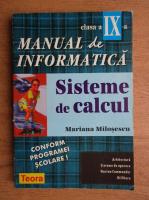 Mariana Milosescu - Manual de informatica. Sisteme de calcul, clasa a IX-a