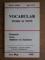 Anticariat: Marilena Chiriac - Vocabular, teorie si teste