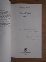 Anticariat: Marilena Istrati - Ultimul Iuda (cu autograful autoarei)