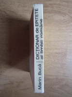 Anticariat: Marin Buca - Dictionar de epitete al limbii romane