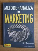 Anticariat: Marin Demetrescu - Metode de analiza in marketing