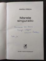 Marin Preda - Marele singuratic (cu autograful autorului)