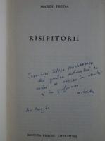 Marin Preda - Risipitorii (cu autograful autorului)