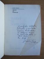 Marin Sorescu - Tratat de inspiratie (cu autograful autorului)