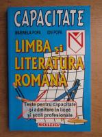 Anticariat: Marinela Popa - Limba si literatura romana, teste pentru capacitate si admitere in licee