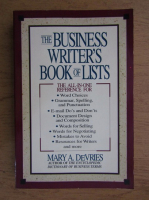 Mary A. DeVries - The business writer's book of lists