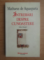 Mathaeus de Aquasparta - Intrebari despre cunoastere