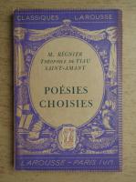 Anticariat: Mathurin Regnier - Poesies choisies. Theophile de viau Saint-Amant (1935)