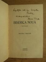 Anticariat: Maura Prigor - Biserica nou (cu autograful autoarei, 1930)