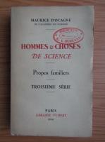 Maurice DOcagne - Hommes et choses de science (1936)