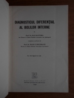 Anticariat: Max Matthes - Diagnosticul diferential al bolilor interne
