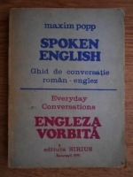 Anticariat: Maxim Popp - Spoken english. Ghid de conversatie roman-englez