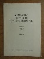 Anticariat: Memoriile sectiei de stiinte istorice, tomul II, 1977