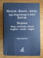 Anticariat: Mezei Jozsef - Dictionar drept, economie, afaceri maghiar-roman-englez