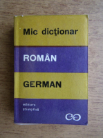 Anticariat: Mic dictionar roman-german