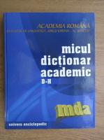 Micul dictionar academic, literele D-H