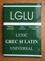 Mihaela Paraschiv - Lexic grec si latin universal