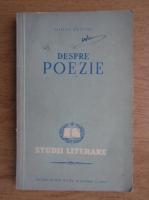 Anticariat: Mihai Beniuc - Despre poezie