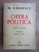 Mihai Eminescu - Opera politica (volumul 2: 1880-1883) (1941)