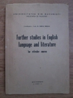 Mihai Miroiu - Further studies in english language and literature for refresher courses