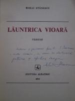 Mihai Stanescu - Launtrica vioara (cu autograful autorului)