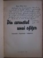 Mihai Varia - Din carnetul unui ofiter (1946, cu autograful autorului)