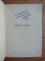 Anticariat: Mihail Drumes - Orgueil insens (1948, cu autograful autorului)