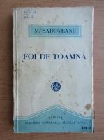 Mihail Sadoveanu - Foi de toamna (1921)
