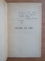 Mihail Sadoveanu - Ochiu de urs (cu autograful autorului, 1938)