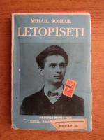 Anticariat: Mihail Sorbul - Letopiseti. Drama in 5 acte si un prolog (1945)