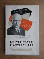 Mihail St. Botez - Dimitrie Pompeiu
