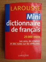 Anticariat: Mini dictionnaire de francais