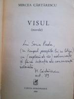Mircea Cartarescu - Visul (cu autograful autorului)