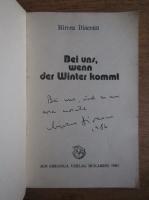 Anticariat: Mircea Diaconu - Bei uns, wenn des Winter kommt (cu autograful autorului)