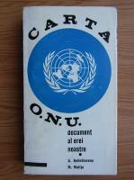 Anticariat: Mircea Malita, Alexandru Bolintineanu - Carta ONU