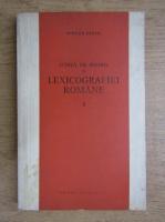 Anticariat: Mircea Seche - Schita de istorie a lexicografiei romane (volumul 1)