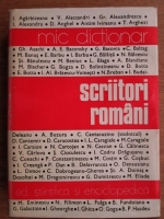Mircea Zaciu - Mic dictionar. Scriitori romani