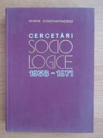 Miron Constantinescu - Cercetari sociologie 1938-1971