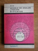 Anticariat:  Modele de analize literare si stilistice (volumul 3)