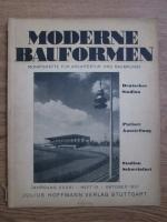 Anticariat: Moderne Bauformen. Monatshefte fur Architektur und Raumkunst. Nr. 10, octombrie 1937