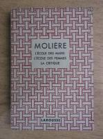 Moliere - Theatre complet illustre. L'ecole des maris. L'ecole des femmes. La critique (aprox. 1930)