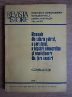 Anticariat: Momente din istoria patriei, a partidului, a miscarii democratice si revolutionare din tara noastra