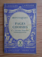 Montesquieu - Pages choisies (1937)