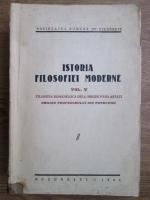 N. Bagdasar, Traian Herseni, Stefan Barsanescu - Istoria filosofiei moderne. Filosofia romanesca de la origini pana astazi (1941, volumul 5)
