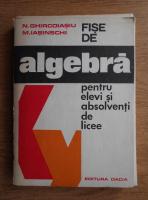 N. Ghircoiasiu, N. Iasinschi - Fise de algebra pentru elevi si absolventi de licee