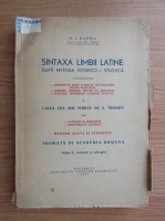 Anticariat: N. I. Barbu - Sintaxa limbii latine dupa metoda istorico-stilistica (1947)